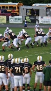 The offensive line pushing defenders back like they have been all year. (Photo provided by William Bordelon)