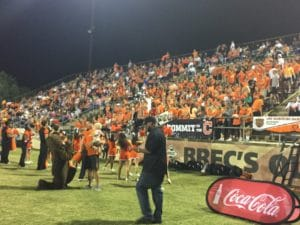 The Catholic High fan base shows why they are one of the best in the state. (Photo taken by Jace LeJeune)
